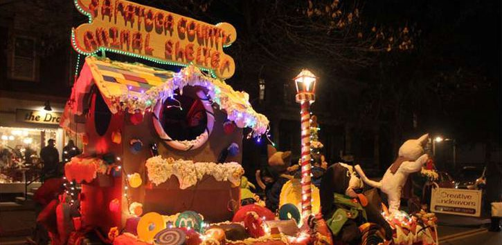 Saratoga County Animal Shelter float in a parade