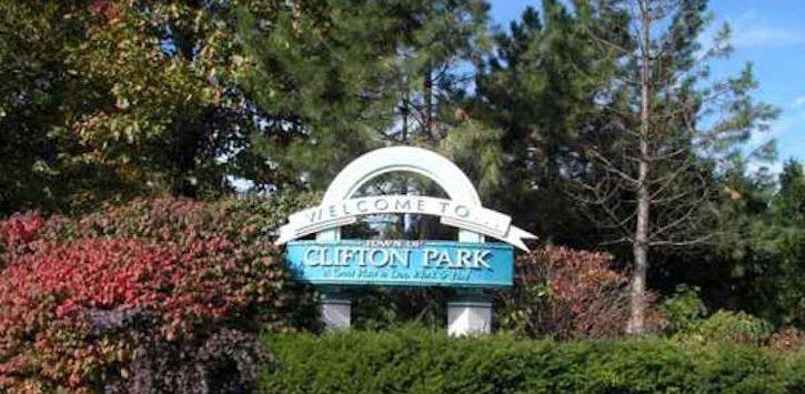 Clifton park sign