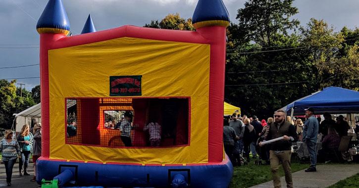 a bounce castle