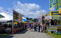 fair booths and walkway