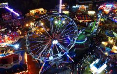 view of fair at night