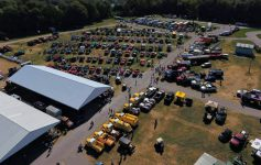 aerial view of Antique Truck Show