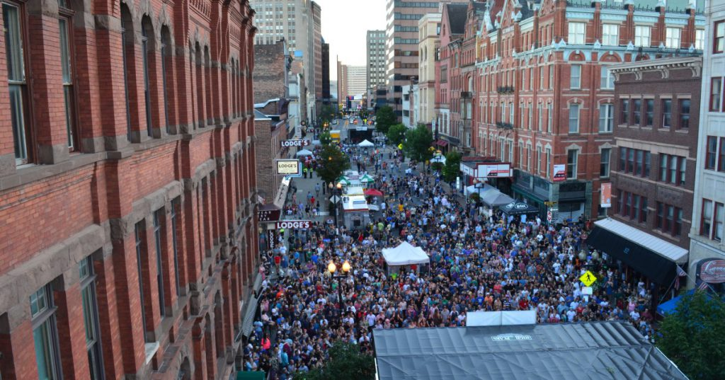 aerial view of pearlpalooza in albany