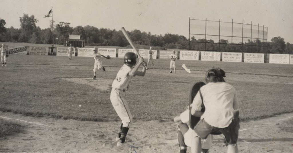 an old black and white baseball photo