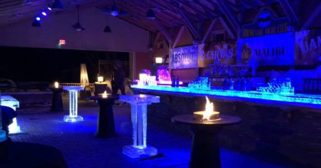 ice bar and fire bowls