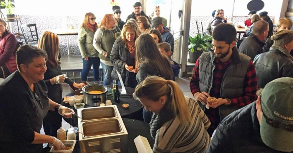 soup sampling event