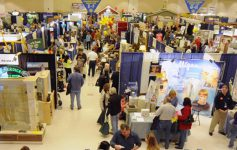 people at an indoor expo