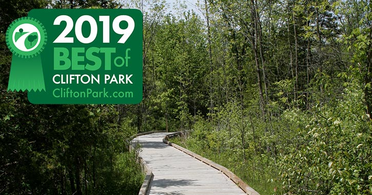 walkway in clifton park with 2019 best of badge