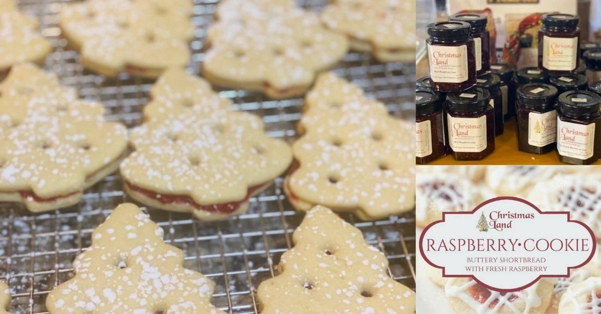 christmas cookies and jam
