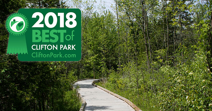 walkway in clifton park with 2018 best of badge