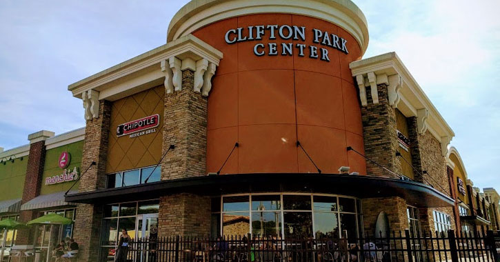 the front of Clifton Park Center