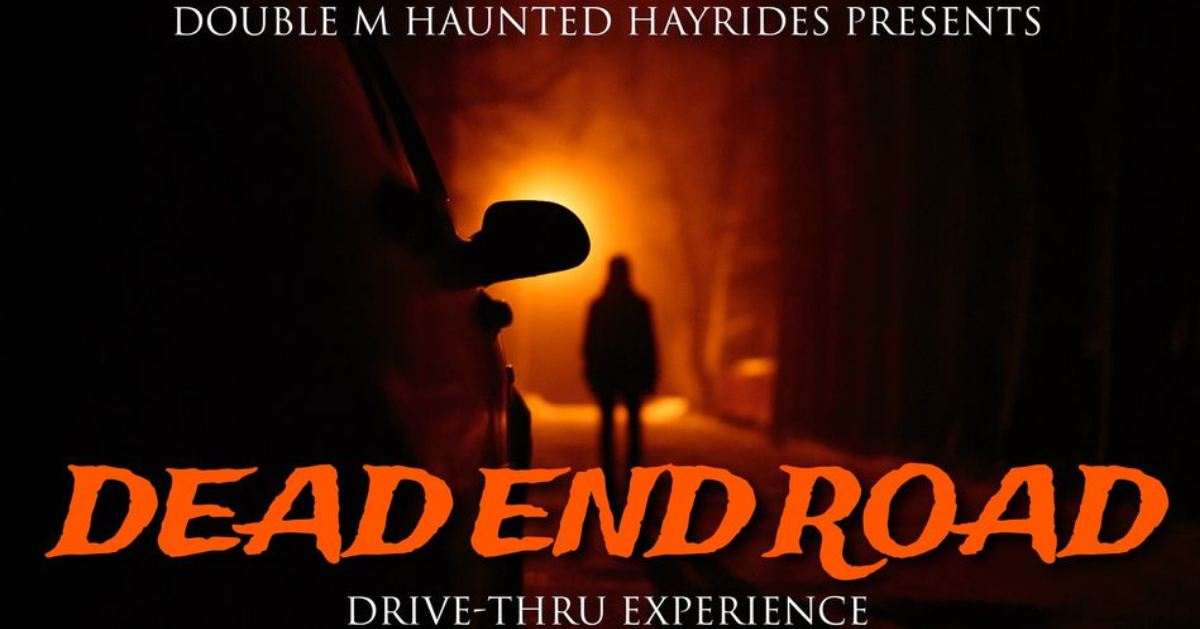 dead end road drive thru experience event poster