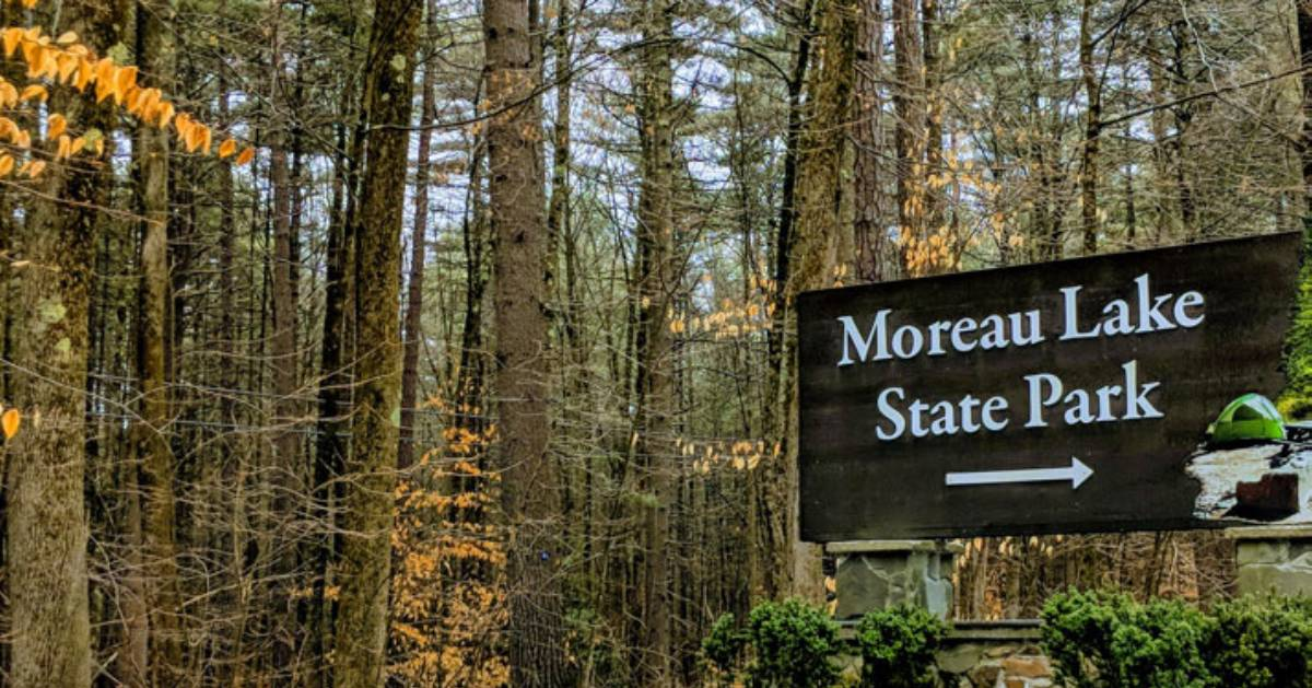 sign for moreau lake state park