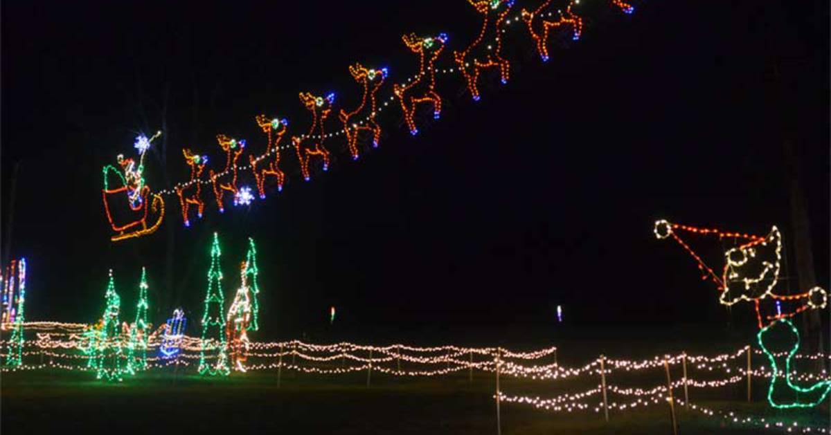 outdoor holiday lights display