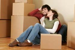 Couple in the process of Moving