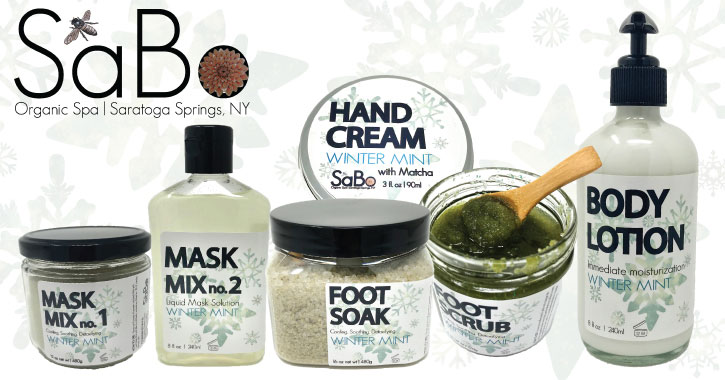 lineup of Saratoga Botanicals products