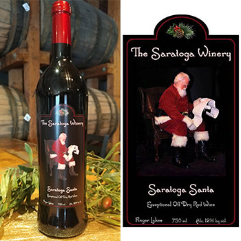 bottle of saratoga santa wine