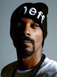 Headshot of Snoop Dog in a Neff beanie