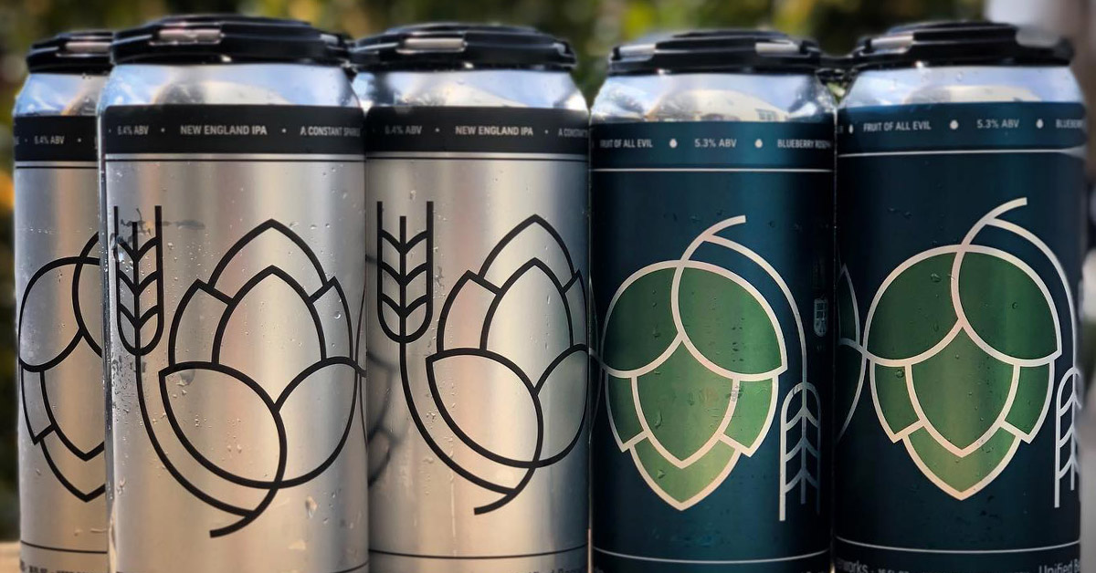 cans of beer from unified beerworks