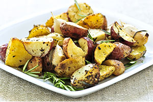 roasted potatoes with fresh rosemary
